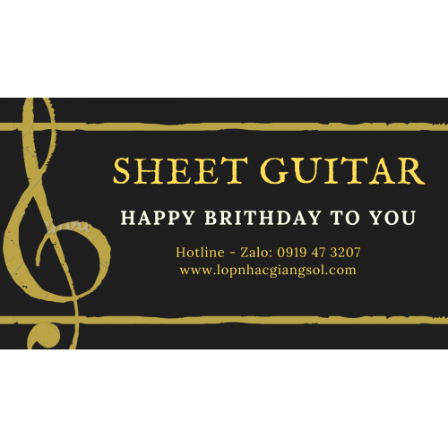Sheet Happy Birthday to You Tab Guitar