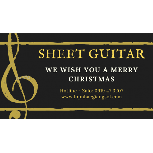 Sheet we wish you merry christmas C
