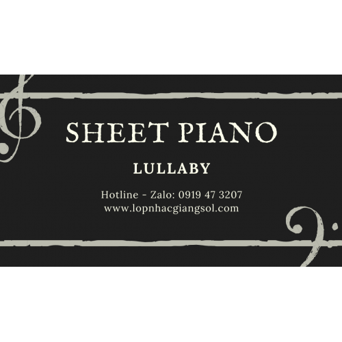 Sheet Piano Lullaby