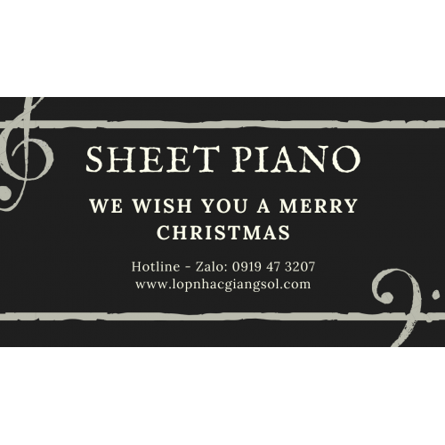 We Wish You a Merry Christmas Sheet piano